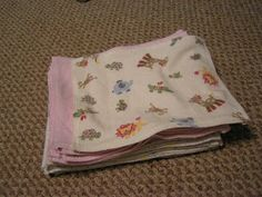 Gracefully Created: How To Make Cloth Baby Wipes -- another great idea for using other items. I know I can make them with a template and I totally know how to do this stitch!