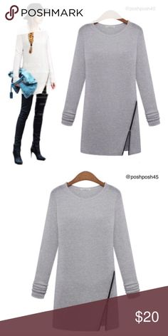 Woman's Long Sleeve Casual Pullover Bought from another posher, but the small is tighter than I'd like for myself. Very cute and perfect with leggings or tights. NWOT Tops