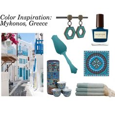 StyleVisa Color Inspiration: Mykonos Greece
