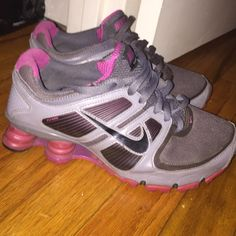 new styles 2eb12 86c6d Womens Nike Shox Womens Pink and Gray Nike Shox. Condition  Worn Nike Shoes  Sneakers
