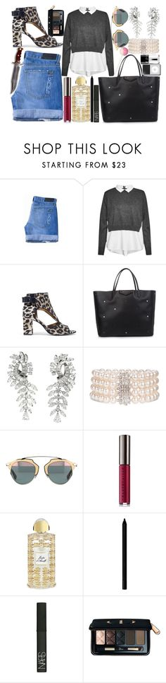"""""""Sans titre #357"""" by lucileking ❤ liked on Polyvore featuring Genetic Denim, French Connection, Givenchy, Boucheron, Mastoloni, Chantecaille, Creed, Giorgio Armani, NARS Cosmetics and Christian Dior"""