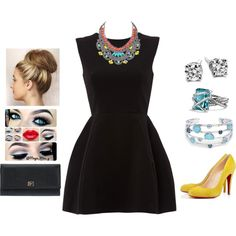 """""""Little Black Dress #10"""" by teodoramaria98 on Polyvore"""