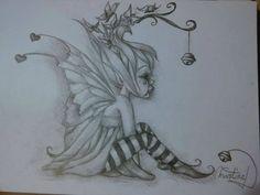 Sad Fairy, Fairy Art, Fairy Drawings, Fantasy Drawings, Elfen Tattoo, Goblin Art, Fairytale Creatures, Daffodil Tattoo, Fairy Tattoo Designs