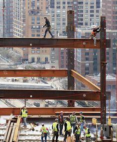 True Grit: America's daring ironworkers walk the girders just like their…