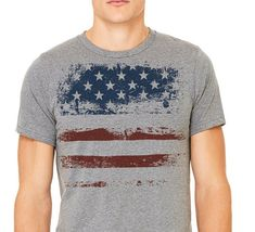847d6636fbf1 July 4t T-shirt Gray T-shirtMan s t-shirt Patriotic by ComfyLine Mens