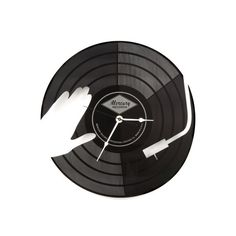 Large Wall Clock Laser Cut Acrylic DJ Turntable Clock Black Vinyl Record Beats Clock Modern Hip Hop Instruments Music Notes Gift Idea