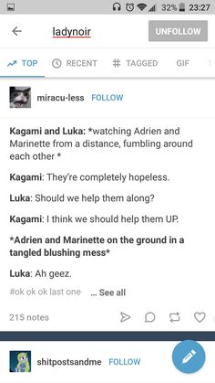 Honestly, I want Luka and Kagami to meet and fall for each other