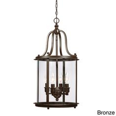 Gillmore 4-light Clear Glass Shade Hall/ Foyer Lantern | Overstock™ Shopping - Great Deals on Sea Gull Lighting Chandeliers