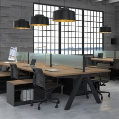 Uhuru is launching their very first official commercial line under the name Uhuru Contract, bringing their black and wood signature style to the office environment #industrialdecor