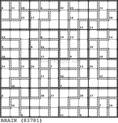 It's been a while since I last posted a Killer Sudoku variation. As far as I can remember, you folks liked the Butterfly layout of the puzzles, so here is an Sudoku Puzzles, Printable Puzzles, Magic Squares, Math Games, Riddles, Butterfly, Neuroscience, Education, Star