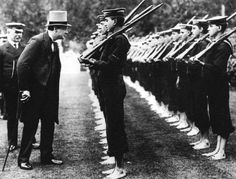 British Royal Navy Cadets Are Inspected By First Lord of The Admiralty Winston Churchill  1912