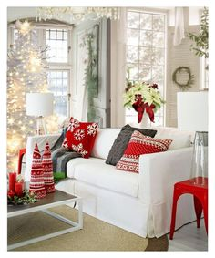 """""""Holiday Winter Cabin"""" by annmaira ❤ liked on Polyvore featuring interior, interiors, interior design, home, home decor and interior decorating"""