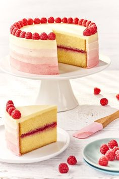 I love this beautiful raspberry ombre cake, great for any party or occasion