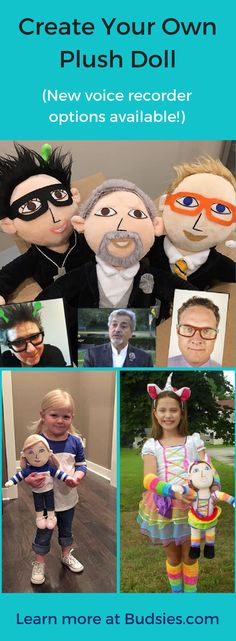 The perfect gift for kids and adults! Everyone should have a huggable plush lookalike. Get your own at Budsies.com.