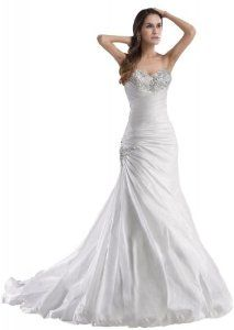 GEORGE BRIDE Sweetheart Neckline Taffeta Wedding Dress With Beaded Bodice