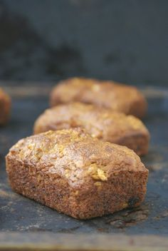 My Gluten Free Bakery: Banana Oat Pecan Mini Loaves