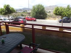 View from ground floor balcony
