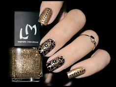 Nail Art festif / Tampon Creative Shop chez LM • LizanaNails