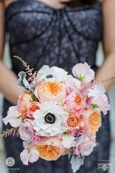 Pink, Orange & White Bouquet I Renaissance Floral Design I See more: http://www.weddingwire.com/biz/renaissance-floral-design-albany/portfolio/43e3f4681db98e6d.html?page=2&subtab=album&albumId=7c4cbe8543aa4e6f#vendor-storefront-content I #enenomes