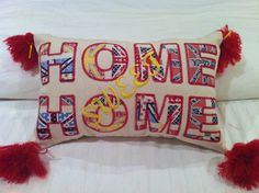 Home sweet home cushion by BanjoLily