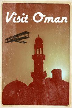 "Oman   #PictureoftheDay: ""Visit Oman"" vintage travel poster."