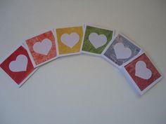 30 little rainbow heart note cards mini heart love by Uneek4U
