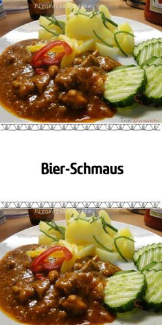 Bier-Schmaus A main course for hungry. Vegan Pumpkin, Pumpkin Spice, Low Calorie Breakfast, Holiday Desserts, Vegan Dinners, Beef Recipes, Food And Drink, Easy Meals, Dessert Recipes