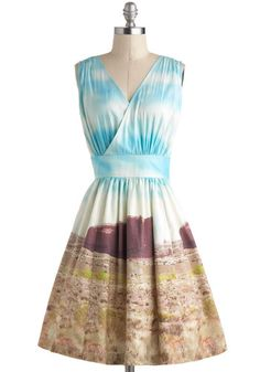 Plenty by Tracy Reese Little Mesa Perfect Dress by Plenty by Tracy Reese - Multi, Print, Party, Fit & Flare, Sleeveless, V Neck, Mid-length, Pockets, Luxe, Statement, Rustic, Travel, Exclusives