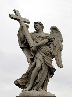 Angel with the Cross by Ercole Ferrata, Ponte Sant'Angelo, Rome