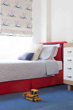 Kids room - Katie Ridder fabric roman shade - Lilly Bunn Interiors