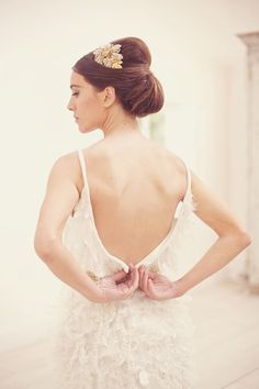 The chignon is such a wedding classic and can be worn by the bride or her bridesmaids. #chignon #weddinghair