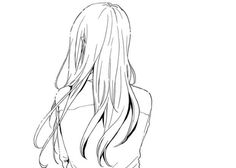 Find images and videos about black and white, anime and manga on We Heart It - the app to get lost in what you love. Drawing Base, Manga Drawing, Drawing Tips, Drawing Sketches, Drawings, Manga Hair, Anime Hair, Hibi Chouchou, Hair Sketch