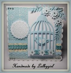1/18/2013; Tracey at 'My creative Place' blog; mostly SU products + Sizzix bird cage die