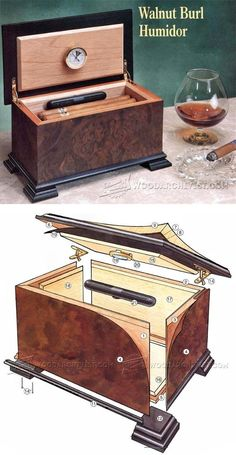 Walnut Burl Humidor Plans - Woodworking Plans and Projects | WoodArchivist.com