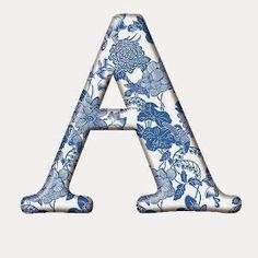 "Photo from album ""Голубой шелк"" on Yandex. Alphabet Art, Monogram Alphabet, Alphabet And Numbers, Scrapbook Background, Z Boys, Different Fonts, Sewing Material, Love People, Creative Cards"