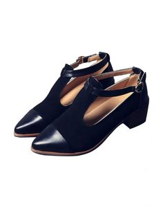 LUCLUC Black London-style Pointed Shoes - LUCLUC