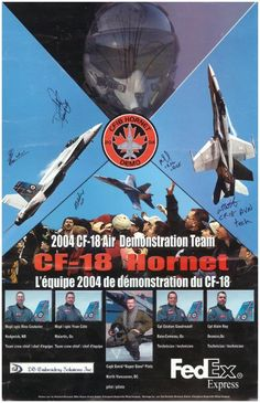 2004 CF-18 Air Demonstration Team Poster