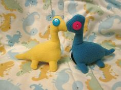 Derpy Dinosaur Plush, Saurpod Plushie, Cute Squishy Doll, Unique Handmade Gift for Dinosaur or Fossil Lover, Paleontology Enthusiasts, Kids