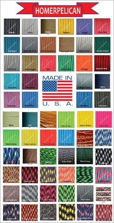Paracord 550 Parachute Cord 550 7 Strand Military by HomerPelican, $6.99