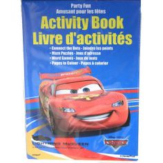 Disneys Cars Activity Book : package of 4 by UNIQUE. $2.49. Sold as package of 4. Includes: Connect the Dots, Maze Puzzles, Word Games, and Pages to Color Featuring Lightning McQuee. Get ready for fun and have a party with Lightning McQueen, Mater and all their friends with a great Disney's Cars party. Be sure to stock up on all Disney's Cars merchandise while you can. A great birthday party theme for either boys or girls Disney's Cars will surely be a hit. These activity books ...