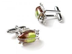 jan leslie rainforest stag beetle cufflinks