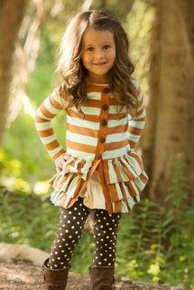 Little Fashionistas! Persnickety Clothing - Tess Jacket - Blue Stripe - Mossy Woods **IN STOCK**