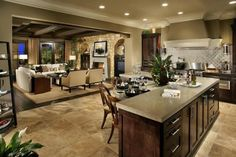 Open Concept Kitchen Living Room Design Ideas