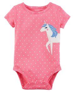 Baby Girl Short-Sleeve Collectible Bodysuit | Carters.com