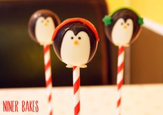 pinguin cake pops ohrenwaermer anbringen - von niner bakes #pinguin-#cake-pops-von-#ninerbakes-de #tortendekorieren
