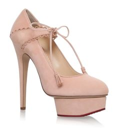 da94329e3595 Buy Charlotte Pink Leatehr Solid Court Shoes online