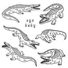 Black Art Tattoo, Tattoo Flash Art, Black And Grey Tattoos, Tattoo Sketches, Tattoo Drawings, Body Art Tattoos, Crocodile Tattoo, Traditional Black Tattoo, Tatuaje Old School
