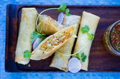 no - Finn noe godt å spise Fresh Eats, Asian Recipes, Ethnic Recipes, Spring Rolls, Fresh Rolls, Tapas, Dinner, Baking, Desserts