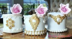 Trio of Mini Cakes  by Sumaiya Omar - The Cake Duchess SA - http://cakesdecor.com/cakes/242872-trio-of-mini-cakes