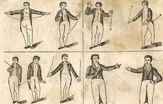 1845 Theatrical Engravings, 38 Little Victorian Men Gesturing Madly